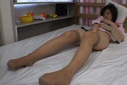 Kasumi Uehara Asian teen is masturbating in her bedroom. Japanese beauty Kasumi Uehara