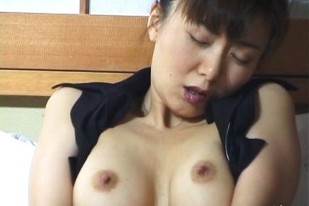 Maria Yuki uses her panties to stimulate her clit and gash. Japanese beauty Maria Yuki