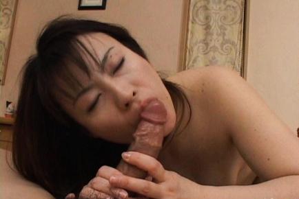 Misaki exhibiting off her dong sucking skills before having sex. Japanese beauty Misaki