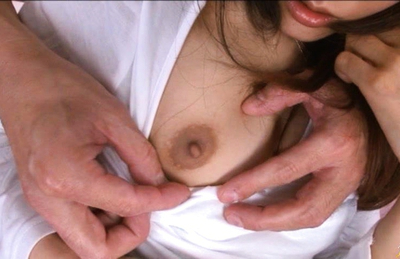 Rei Mizuna Asian has round assets with brown mammillas caressed. Japanese beauty Rei Mizuna