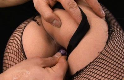 Sena Aragaki Asian gets vibe in vulva through broken stockings. Japanese beauty Sena Aragaki