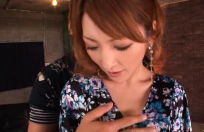 Kaede Matsushima sexy housewife is kissing her hot man at home. Japanese beauty Kaede Matsushima