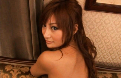 Kirara Asuka Asian exposes hot behind in thong and nude big tits. Japanese beauty Kirara Asuka