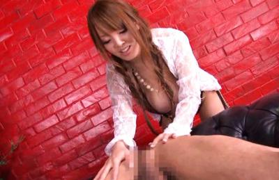 Hitomi Tanaka swallows ejaculation after sucking his big hard love muscle. Japanese beauty Hitomi Tanaka