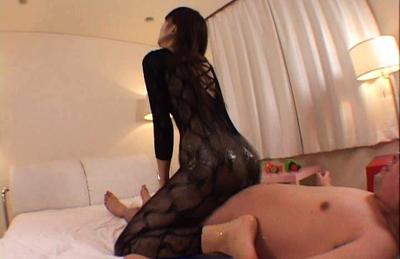 Japanese AV Model with oiled lace full body arouses rod with poop. Japanese beauty Japanese AV Model