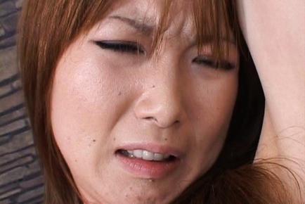 Rika Sakurai´s pink is masturbated with a vibrocock. Japanese beauty Rika Sakurai