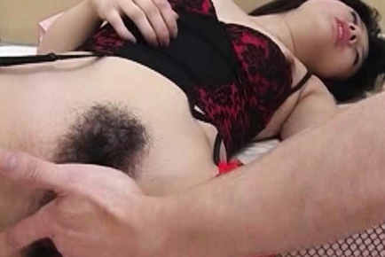 Naka nakajyo in pink lingerie is fucked and gets cum on boob 8