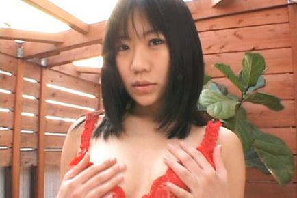 Saya Misaki sucks snake and makes it hard with her soft lips. Japanese beauty Saya Misaki