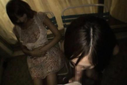 Kirara Asuka sucks hose with her friend sitting next to her. Japanese beauty Kirara Asuka