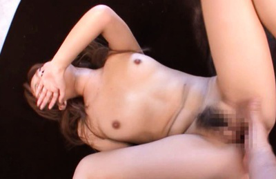 Rio Fujisaki Asian licks and sucks erect penis before bonking. Japanese beauty Rio Fujisaki