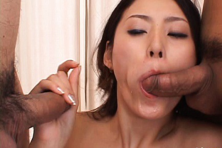 Risa Asian is good at double blowjob, sucking and teasing shafts. Japanese beauty Risa