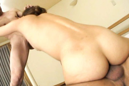 Hibiki Ohtsuki Asian with pecker stuck in cunt sucks another shlong. Japanese beauty Hibiki Ohtsuki
