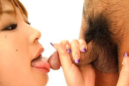 Ai Kurosawa Hottie teases a boner before mouth insertion. Japanese beauty Ai Kurosawa