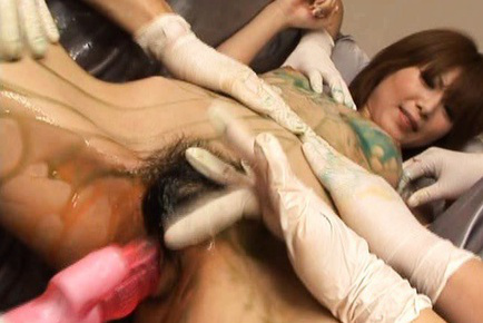 Rika Sakurai naughty Asian hotty covered in lube gets vibe insert. Japanese beauty Rika Sakurai