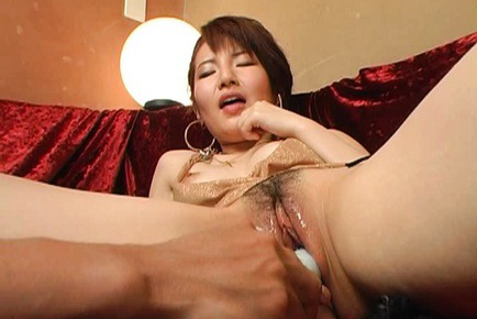 Miku Tanaka has cooch spread and vibrocock inserted in her wet cunt. Japanese beauty Miku Tanaka