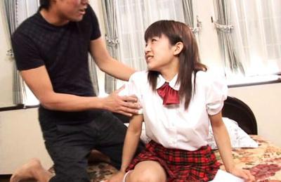 Ami Kitajima Asian has juicy bazoom bas sucked in hot threesome. Japanese beauty Ami Kitajima