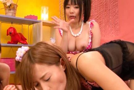 Japanese AV Model and group of sluts want he cum after blowjob. Japanese beauty Japanese AV Model
