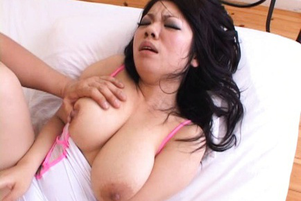 Japanese AV Model with nude immense assets has bushy snatch  licked