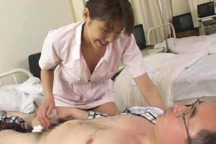 Arika Takarano Asian nurse sucks toes and turns her patient on. Japanese beauty Arika Takarano