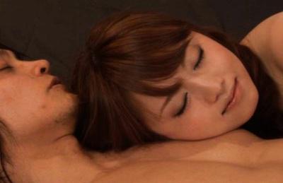 Akiho Yoshizawa is on her back getting a hard gash pumping. Japanese beauty Akiho Yoshizawa