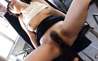 Satou Haruka Asian is reamed in bushy hole with big object. Japanese beauty Senna Ogawa