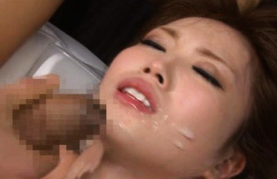 Rina Kato Asian with racy breasts is slammed in mouth and chopper