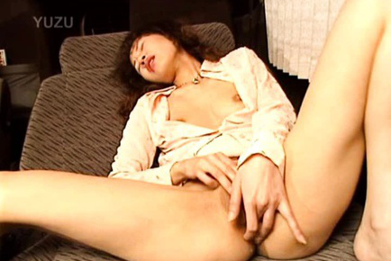 Yuki Asian doll spreads her shaved gash and fingers her slit. Japanese beauty Yuki