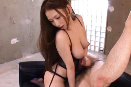 Sayuki Kanno Asian in stockings is about to touch boner with titties. Japanese beauty Sayuki Kanno