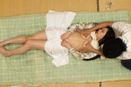 Rika araki. Rika Araki Asian is turned on while getting massage with oil