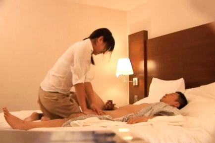 Japanese AV Model goes to give massage to he and is undressed. Japanese beauty Japanese AV Model