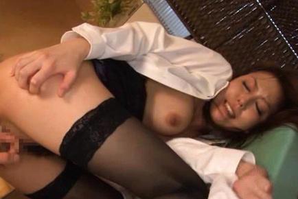 Nachi Sakaki Asian with hot assets and behind has arsehole fingered. Japanese beauty Nachi Sakaki