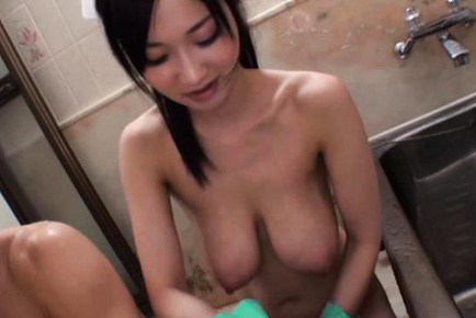 Sayuki kanno. Sayuki Kanno Asian has huge assets and pussy touched with soap