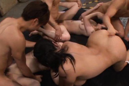 Hana haruna. Hana Haruna Asian and babes kiss while are make love by guys in orgy