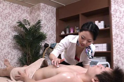 Japanese av model. Japanese AV Model touches man nipples with