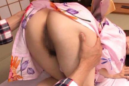 Japanese AV Model has crack licked under geisha dress by male. Japanese beauty Japanese AV Model