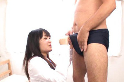 Nana usami. Nana Usami Asian has cunt rubbed on panty and shows pink labia