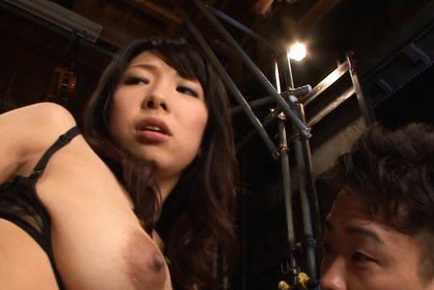 Yui tanaka. Yui Tanaka Asian has great cans tocuhed with face by two fellows
