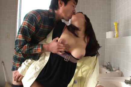 Yui tanaka. Yui Tanaka Asian has dark nipples of huge twat bitten by dude
