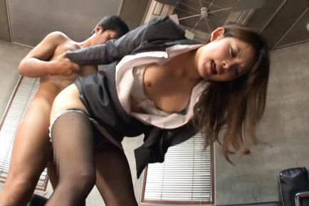 Sumire Asian in office suit has slit doggy style banged by boyfriend. Japanese beauty Sumire