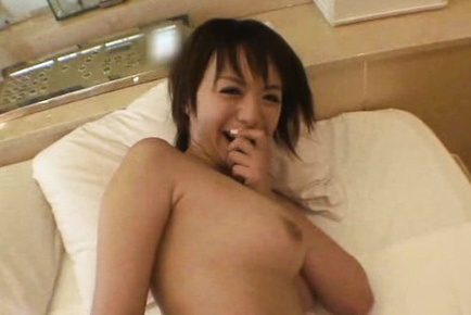Rika hoshimi. Rika Hoshimi Asian plays with cock in bathroom and