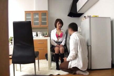 Japanese av model. Japanese AV Model shows hot anal in panty and