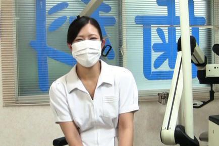 Japanese AV Model nurse tries to relax fellow that came to dentist. Japanese beauty Japanese AV Model