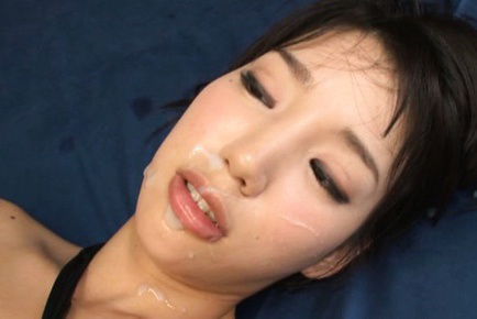 Yui Fujishima Asian in labia stockings gets semen on face after pound. Japanese beauty Yui Fujishima