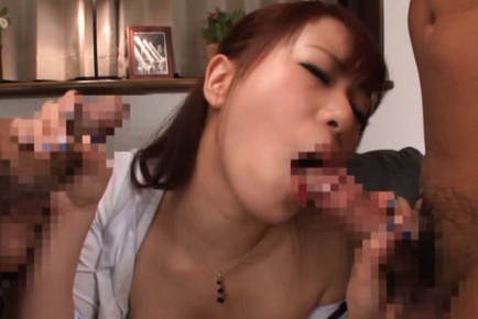 Riri ouka. Awesome Riri Ouka has hot fun with two boys in the