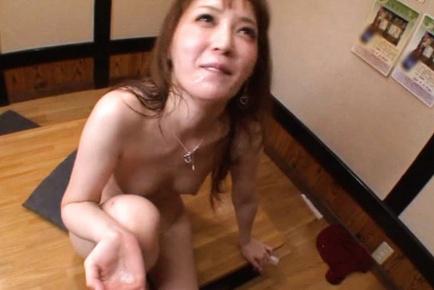 Kaede fuyutsuki. Libidinous Kaede Fuyutsuki blowjob it with passion and gets facialized