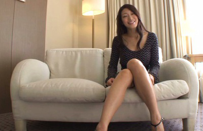 Reiko kobayakawa. Reiko Kobayakawa Asian with lustful legs and big tits is kissed