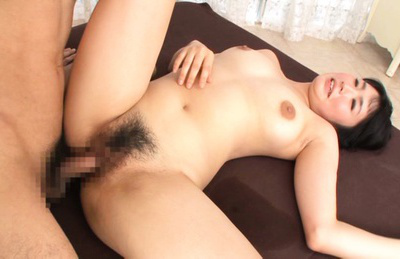 Satomi nomiya. Satomi Nomiya Asian with fine tits has hairy slit filled with cumshot