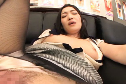 Ryu Asian with hard mamillas is rubbed with dildo on crack. Japanese beauty Ryu