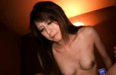 Japanese av model. Japanese AV Model with nasty chest and hairy pussy rides woody
