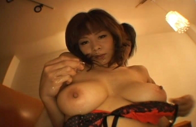 Ren Mizumor sexy Asian model enjoys sex with her melons with a friend. Japanese beauty Ren Mizumor